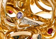 Anéis dourados Imagem de Stock Royalty Free