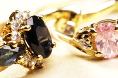 Anéis dourados Fotografia de Stock Royalty Free
