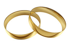 Anéis dourados do casamento Imagens de Stock