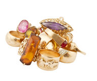 Anéis dourados isolados Imagens de Stock Royalty Free