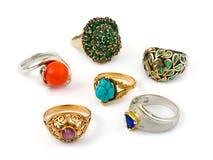 Anéis e jóia fotografia de stock