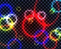 Anéis e quadrados coloridos Fotografia de Stock