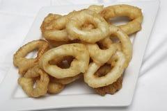 Anéis fritados do Calamari Foto de Stock Royalty Free