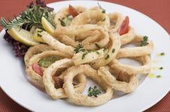 Anéis fritados 1 do calamari Imagens de Stock