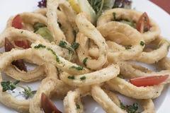 Anéis fritados 8 do calamari Imagens de Stock
