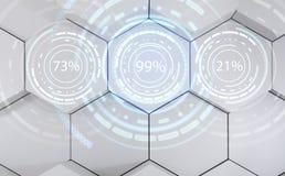 Anéis futuristas do círculo da carga Exposição da carga do tempo de espera rendição 3d Fotos de Stock