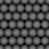 Anéis Greyscale abstratos Imagens de Stock