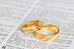 Anéis no capítulo da união Fotografia de Stock
