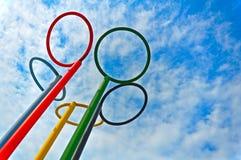 Anéis olímpicos Imagens de Stock Royalty Free