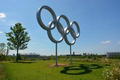 Anéis olímpicos Fotos de Stock