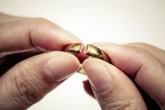 Anéis quebrados Fotos de Stock