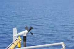 Anémomètre marin Photo libre de droits