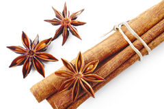 Anís de estrella con cinamomo Imagen de archivo libre de regalías