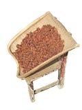 Anís, recogedor de polvo y taburete Foto de archivo libre de regalías