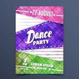 Anúncio colorido do dance party Foto de Stock Royalty Free
