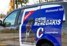 Anúncio conservador do candidato Imagens de Stock