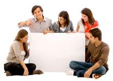 Anúncio da bandeira - amigos felizes Imagens de Stock