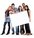 Anúncio da bandeira - amigos felizes Imagem de Stock