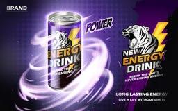 Anúncio da bebida da energia Imagem de Stock Royalty Free