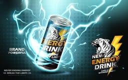 Anúncio da bebida da energia Imagem de Stock