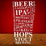 Anúncio da cerveja Fotografia de Stock