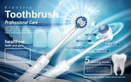 Anúncio da escova de dentes elétrica ilustração royalty free