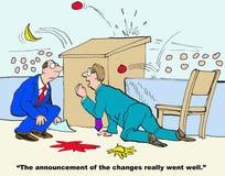 Anúncio das mudanças ilustração royalty free