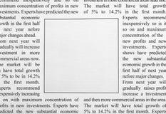 Anúncio de jornal imagens de stock