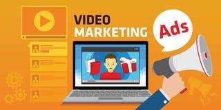 Anúncio de mercado video viral de youtube webinar Fotografia de Stock