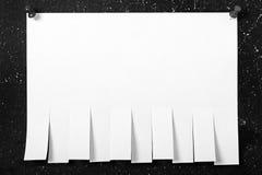 Anúncio de papel Fotografia de Stock