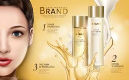 Anúncio de produtos cosmético Imagens de Stock