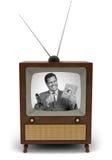 anúncio de televisão dos anos 50 Foto de Stock