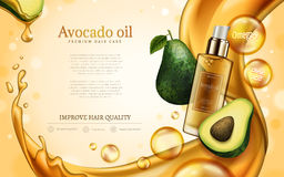 Anúncio do óleo do abacate Fotos de Stock Royalty Free