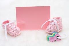 Anúncio do bebê Foto de Stock Royalty Free