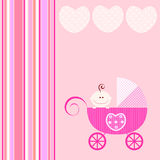 Anúncio do bebê Imagens de Stock Royalty Free