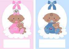 Anúncio do bebê ilustração stock