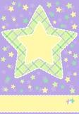 Chuveiro do cartão do bebê Fotografia de Stock Royalty Free