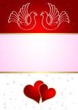 Anúncio do casamento com pombas Fotos de Stock Royalty Free