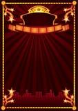 Anúncio do cinema ilustração stock