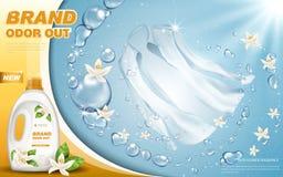 Anúncio do detergente para a roupa Imagem de Stock Royalty Free