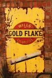 Anúncio do floco do ouro Imagens de Stock Royalty Free