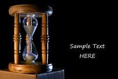 Anúncio do Hourglass fotos de stock