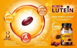 Anúncio do lutein da pureza alta Imagens de Stock