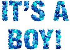 Anúncio do nascimento do menino ilustração stock