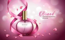 Anúncio do perfume do aroma ilustração stock