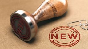 Anúncio do produto novo ou do serviço Anunciando o conceito Imagens de Stock