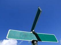 Anúncio em branco do sinal de rua Fotografia de Stock Royalty Free
