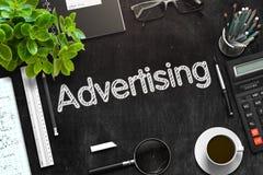 Anúncio escrito à mão no quadro preto rendição 3d Imagens de Stock