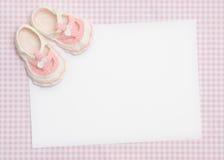Anúncio novo do bebê Fotos de Stock Royalty Free