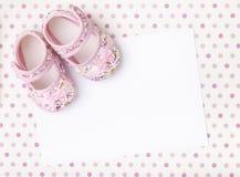 Anúncio novo do bebê fotos de stock